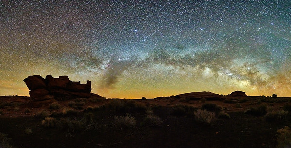 Wupatki Ruin & Milky-Way #1 - Wupatki National Monument, AZ