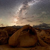 Mobius Arch and Milkyway - Alabama Hills, Lone Pine, California<br /> *<br /> Nikon D5, 14-24mm f/2.8 AFS, f/2.8, 30sec, ISO 10000<br /> *<br /> I've probably shot this arch a 100 times over the last 18 years.  Every time is something different.  This time was the first where I was serious about including the Milkyway in the composition.  To avoid too much light from the half moon, this shot was made a three in the morning.<br /> *<br /> When I doing night photography, I rarely shoot the sunrise or sunset.  I do this mostly because I'm asleep from being up for several hours in the middle of the night. <br /> ____________________<br /> *<br /> #Nikon #Nikonphotography #night #naturephotography #milkyway #california #astrophotography #alabamahills #lonepine #mobiusarch