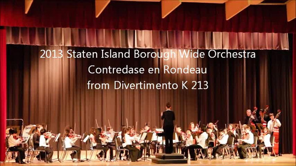 Staten Island Borough-Wide Concerts 2013 - 10-Contredase en Rondeau  from Divertimento K 213
