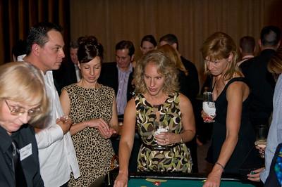 Faith Velschow and Karen Lotti place a bet