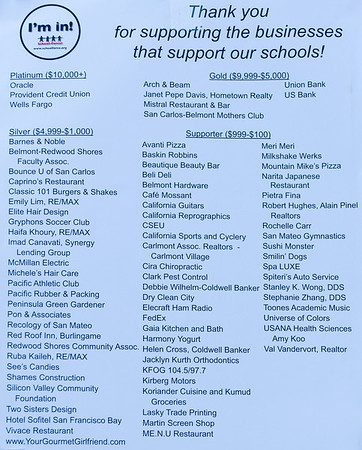 Financial supporters of School Force