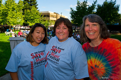 Cathy Wright, Dr. Emerita Orta-Camilleri, Emily Sarver Save the Music