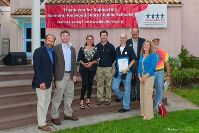 Jerry Hill, California State Assembly; Alicia Aquirre, Mayor Redwood City; David Braunstein, Belmont City Council; Matthew English, President School Force; Jeff Gee, Redwood City Council; Shelly Masur, President Redwood City School Board; Alan Sarver, Save the Music Chair