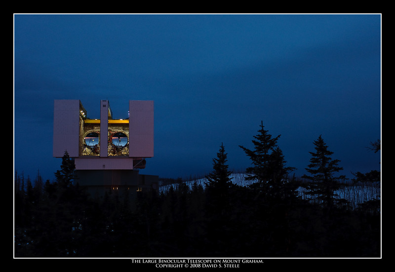 12.12.2008 -- The Large Binocular Telescope on Mt. Graham.