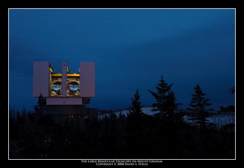 12.12.2008 -- The Large Binocular Telescope on Mt. Graham.