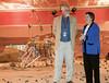 (2.13.2008 -- Tucson, AZ)  Arizona Governor Janet Napolitano addresses the Phoenix Mars Mission staff as Dr. Peter Smith, the mission's Principal Investigator looks on.