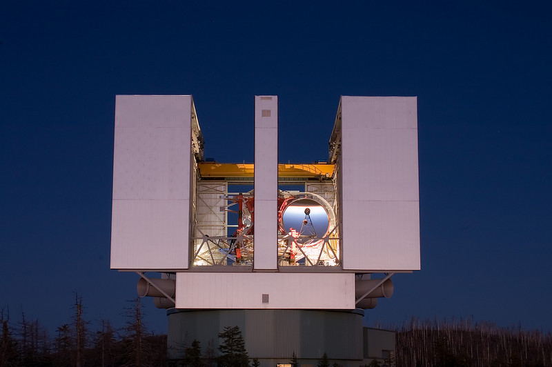 9-14-2005 -- Photo by David S. Steele -- The Large Binocular Telescope at the Mount Graham International Observatory, Mt. Graham, Arizona.