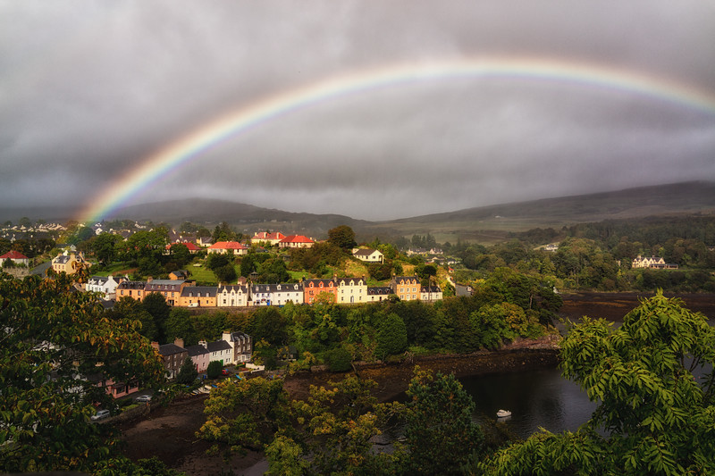Rainbow over Portree