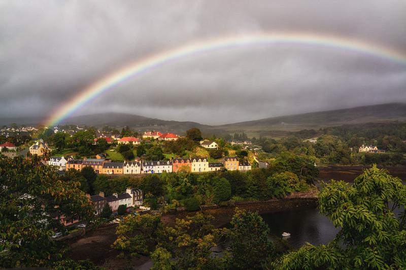 Rainbow over Portree