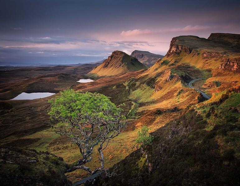 Jurassic dawn, Quiraing, Skye, Scotland