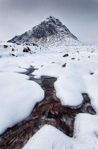 Buachaille Etive Mor in Winter, Glencoe, Scotland