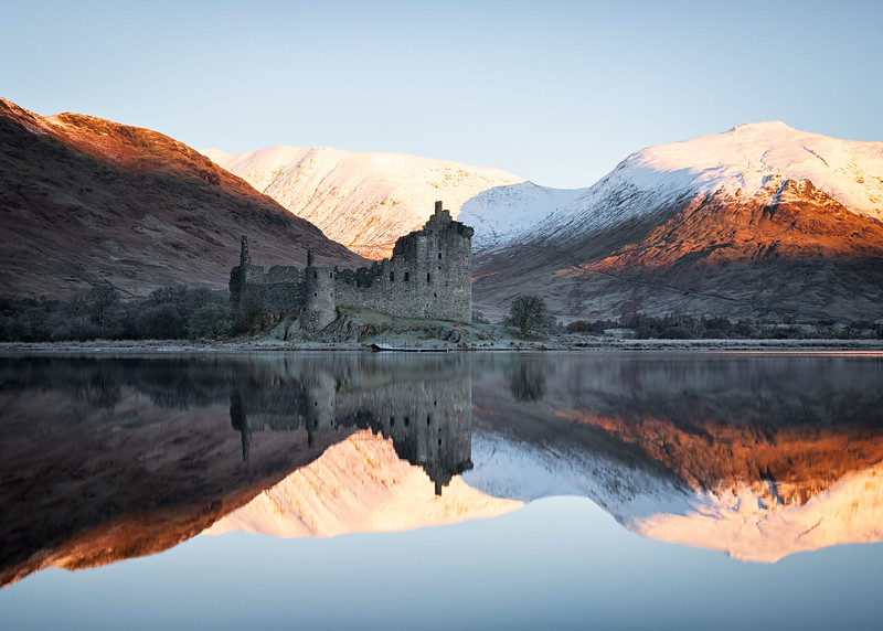 Winter reflections at Kilchurn Castle, Scotland