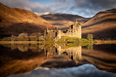 Mirror image, Kilchurn Castle, Scotland