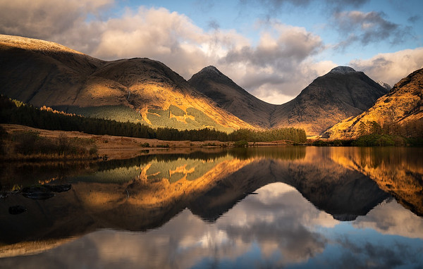 Light and shadow, Glen Etive, Scotland