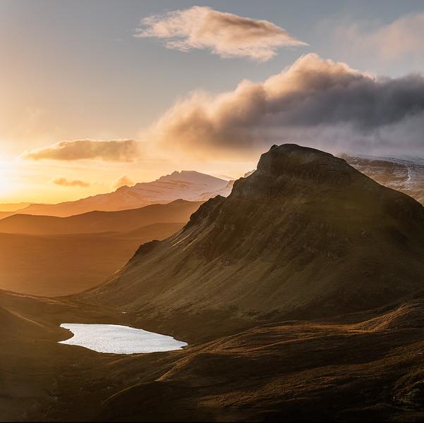 Winter sunrise, Quiraing, Skye, Scotland