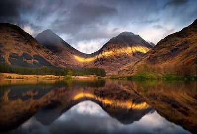 Transient light, Glen Etive, Scotland