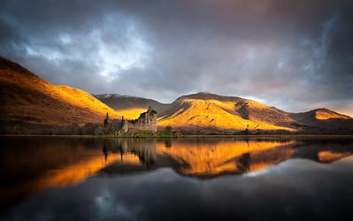 Golden mountains, Loch Awe, Scotland