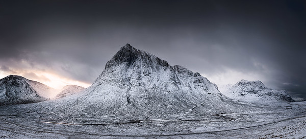 Glencoe winter panorama, Scotland