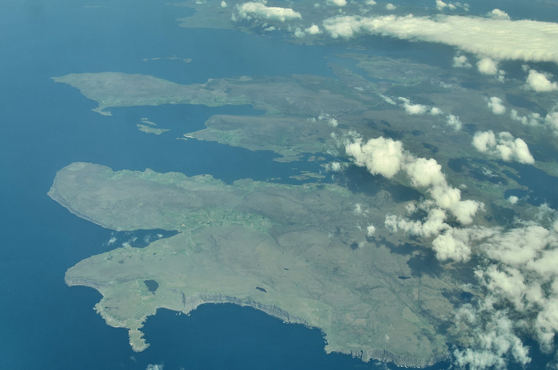 Most W-ly peninsula, Loch Dunvegan in center, Isle of Skye