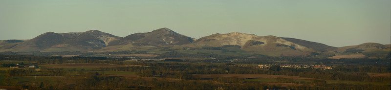 The Pentland Hills after slight snow fall