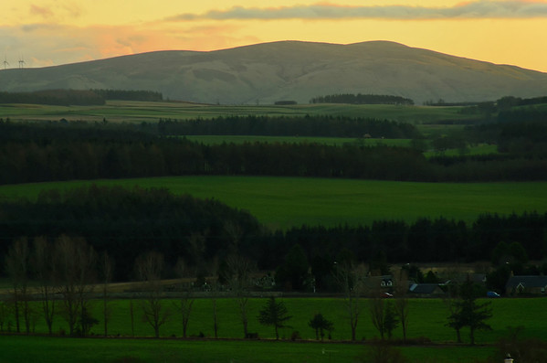 Moorfoot Hills from Gorebridge