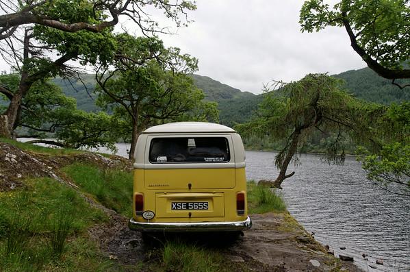 VW Bus at Loch Voil, Scotland