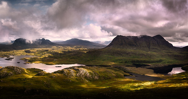 Assynt panorama from Stac Poillaidh, Scotland