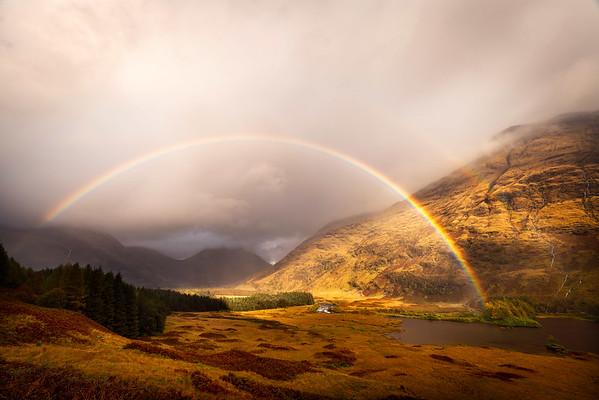 Glen Etive rainbow, Highlands, Scotland