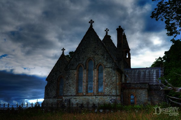 Abandoned Church at Sunset