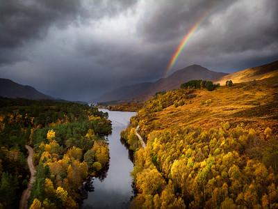 Autumn in Glen Affric, Highlands, Scotland