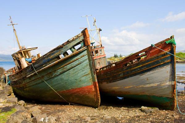 Old boats, near Salen