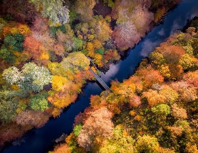 Bridge to Autumn, Perthshire, Scotland