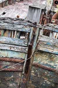 Detail of old fishing boat, Isle of Mull