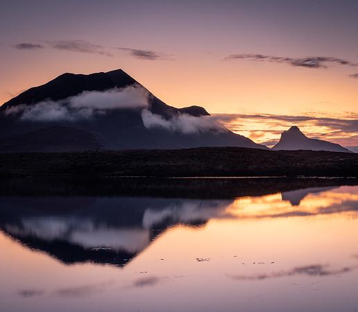 Stac Pollaidh reflected, Assynt, Scotland
