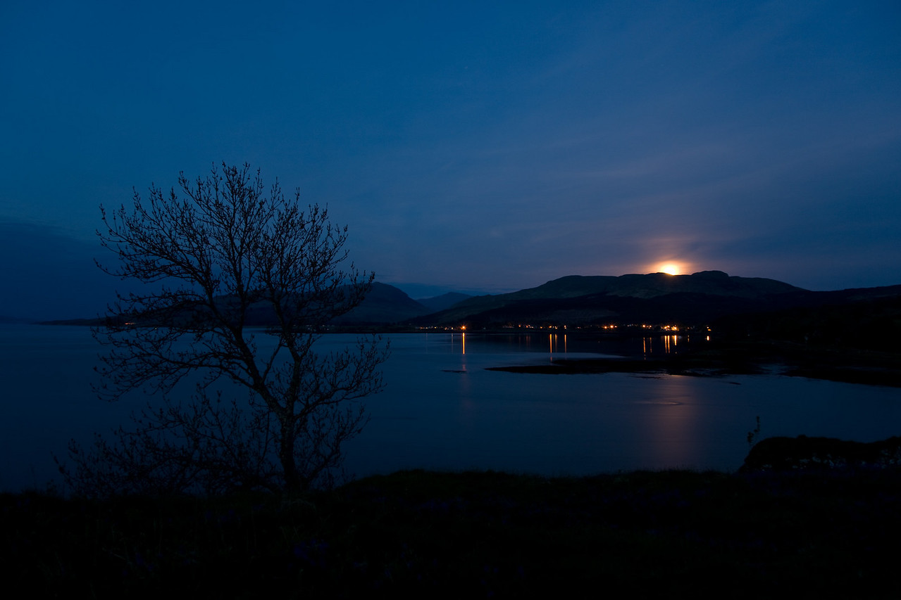 View from Aros Castle, Moonrise
