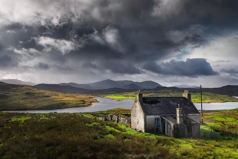 Passing storm, Outer hebrides, Scotland