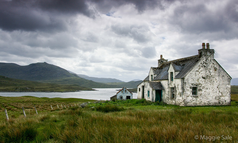 Abandoned farm by a Loch, Lewis