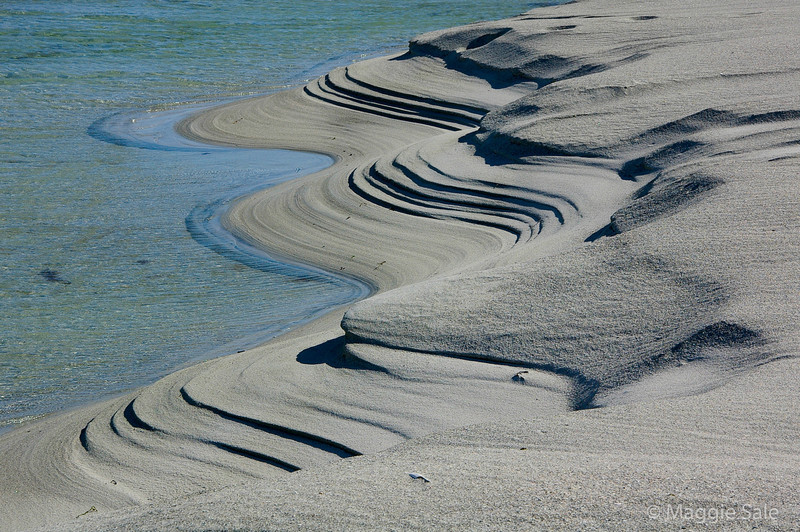 Sand sculpturing on Berneray Beach