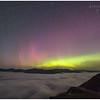 Aurora Borealis and valley fog from Beinn Dorain, Bridge of Orchy