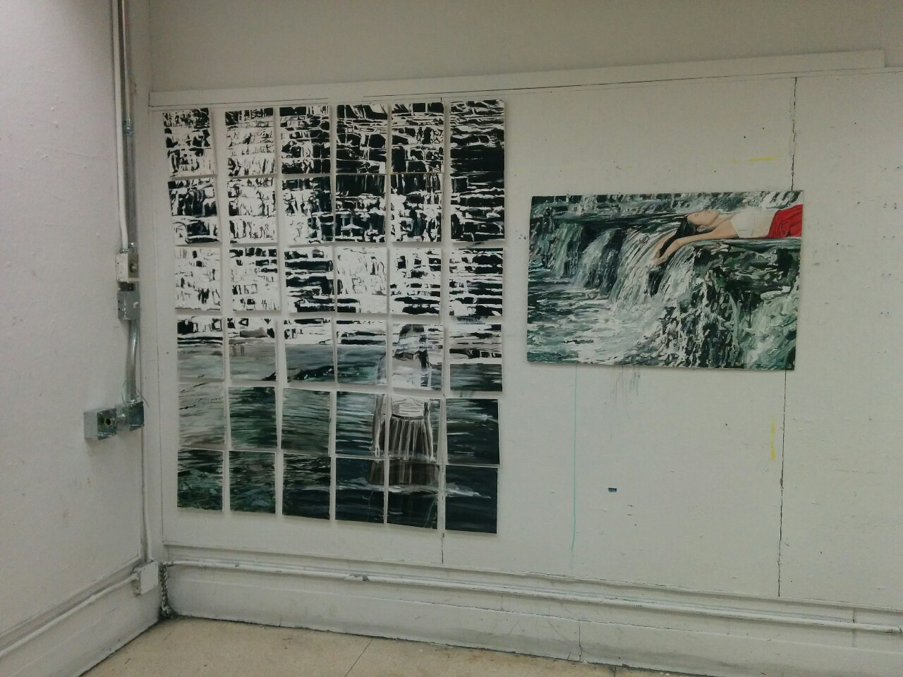 """Paintings of pictures from the """"#Dreams (waterfall)"""" gallery done by Brenda Kara Tse. You can find more of her work at http://www.brendakaratse.tumblr.com"""