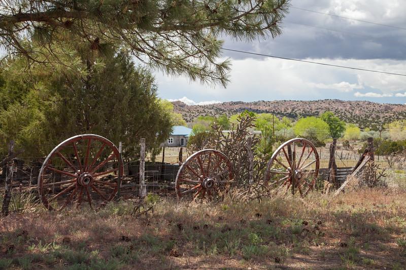 Wagon Wheels, Hwy 285, Northern NM IMG_9984
