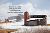Barns and snow with Scripture