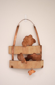 My castle in the sky, wood and copper sculpture