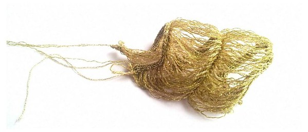 Golden jellyfish, knitted textiles