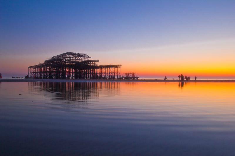 West pier at low tide