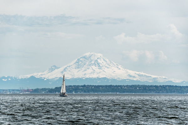 Sailing in sight of Mt. Rainier
