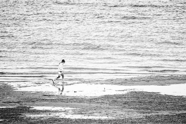Girl at Low Tide