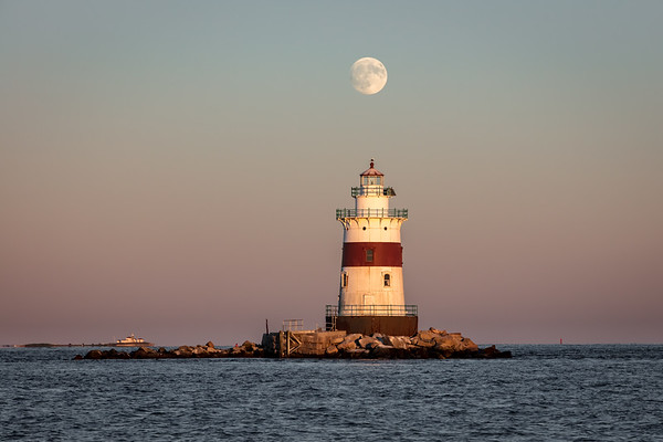 Latimer Lighthouse Harvest Moon