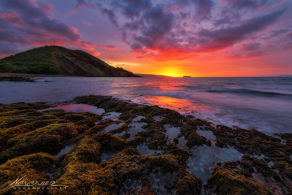 I do a fair amount of private photography tours on Maui, and this is one of my favorite places to take clients at the end of the day. The scene from this spot is fantastic and almost always uncrowded. <br /> <br /> This was from one of those Maui photo tours where I took a gentleman from Canada and we were treated to this insanely red sunset. The sky just kept getting redder and redder as he and I just fired away!