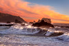 Sunset waves- Sonoma coast